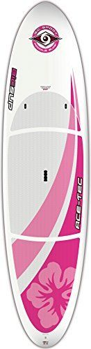 BIC Sport ACE-TEC Performer Stand up Paddleboard, Gloss White Wahine, 10-Feet 6-Inch x 31.5-Inch x 26