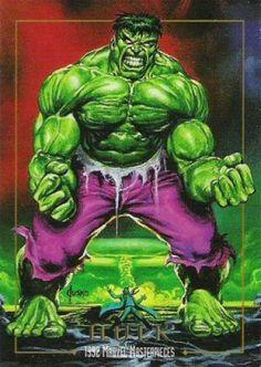1992 SkyBox Marvel Masterpieces Promos Hulk Non-Sports Card NM Hulk Marvel, Marvel Comics Superheroes, Hulk Avengers, Marvel Characters, Marvel Heroes, Marvel Masterworks, Marvel Cards, Hulk Art, Marvel Comic Universe