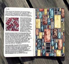 Moleskine, by Rebecca Blair Moleskine, Art Journal Pages, Art Journals, Midori, Artist Sketchbook, Doodles Zentangles, Sketchbook Inspiration, Art Graphique, Old Art