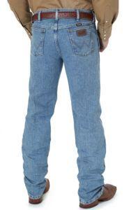 Wrangler Premium Performance Advanced Comfort Cowboy Cut Stone Bleach Stonewash Jeans- Regular Fit | Cavender's