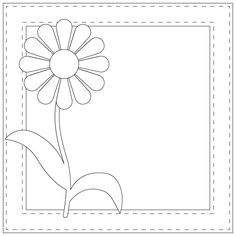 Daisy with Frame    - #DRAW #ZENTANGLE #ZENDALA #TANGLE #DOODLE #TEMPLATE #VORLAGEN