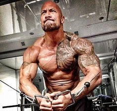 """Dwayne Johnson pumps up to play Hercules - oh my - even better """"Pec Pop of Love"""" action - woo!"""