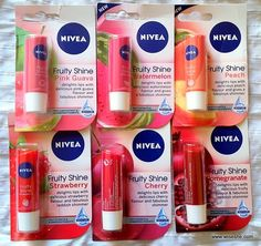 All NIVEA Fruity Shine Lip Balms Photos & Swatches