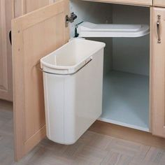 Kitchen Organization – Swing Out Cabinet Trash Can – under sink?                                                                                                                                                                                 More