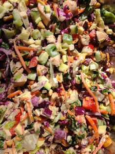 Chopped salad. Would definitely have to leave a few of the ingredients out.  But love that it is all chopped.