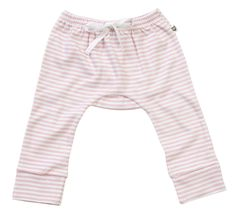 """Your baby girl will love the comfort of these pale pink/white stripe pants. Pair it with the Elephant Tee as a compete outfit. It is sure to impress! 100% Cotton / Machine Washable. """"A Layette range, Hoot Baby is for newborns thru to 12 months. Designed with heaps of personality, superior fabrics, and function in mind, Hoot Baby provides the ultimate in comfort and style"""" $7.95 local shipping, free shipping on all Aust wide orders over $150!"""