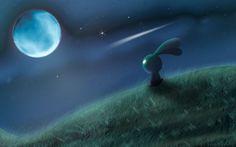 Fantasy Art Gallery Relaxed Moon | Look at the moon... by *Joakaha on deviantART