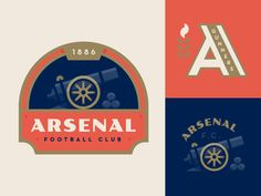 Gunners💥 designed by Trey Ingram. Connect with them on Dribbble; the global community for designers and creative professionals. Typography Logo, Logo Branding, Lettering, Badge Design, Logo Design, Brand Design, Icon Design, Badges, Soccer Logo