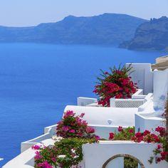 Endless miles of gorgeous coastline in Santorini, Greece.