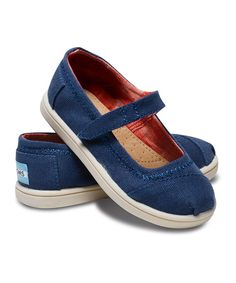 d51ef0d7a18 Look at this TOMS Navy Canvas Mary Jane - Tiny on  zulily today! Little