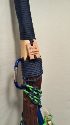 This unique hiking stick combines the old and new. The lightweight adjustable height hiking pole is equipped with a hardwood stick handle that is Camping Survival, Outdoor Survival, Survival Prepping, Survival Skills, Survival Gear, Survival Stuff, Walking Sticks And Canes, Walking Canes, Bushcraft