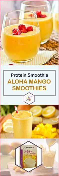 What do you get when you take the delicious taste of a sweet, juicy mango, add protein, and take away most of the sugar? Basically, you get the BariatricPal Protein Smoothie Aloha Mango! It may be the (Vegan Smoothies Protein) Protein Smoothies, Smoothie Fruit, Raspberry Smoothie, Smoothie Diet, Mango Smoothies, Strawberry Sangria, Detox Smoothies, Fruit Diet, Weight Loss Meals
