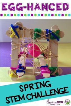 Spring or Easter STEM Challenge: In Egg-hanced, students design an egg-hancement to protect it from drops at various heights! Includes modifications for grades 2-8.
