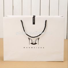 Luxury kraft paper bags for shopping for apparel clothes dress shirt bowtie shoes