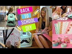 DIY FOURNITURES SCOLAIRES !   BACK 2 SCHOOL 2015 - YouTube