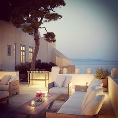 greek island outdoor space