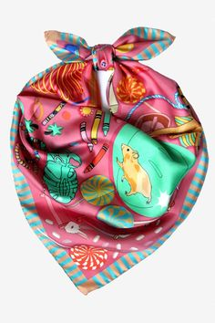Karen Mabon 'Bedroom Floor' silk scarf | Godiva Boutique