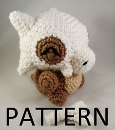 Cubone Amigurumi Pattern Cubone Amigurumi Pattern is up in the shop! Now you can make one of your own to cuddle with! Etsy Store Facebook Instagram Etsy Queue Patreon Deviantart