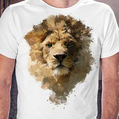 Awesome men t shirt with lion tshirt with animal print by Barabaha