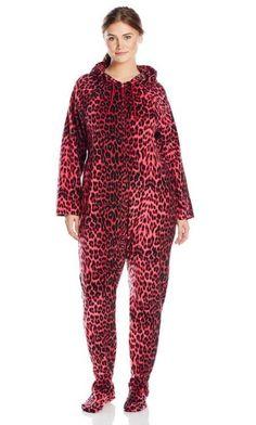 d9998b9f8442 Women s Plus-Size One Piece Hooded Pajama