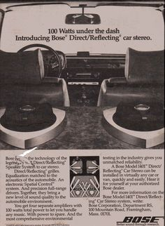 1980 Bose Model 1401 Direct/Reflecting car stereo.