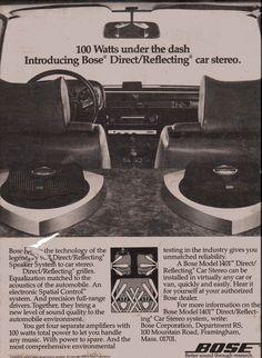 1980 Bose Model 1401 Direct/Reflecting car stereo.