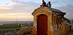 The walled-city in Cartagena, Colombia is a place for romance, especially during sunset.