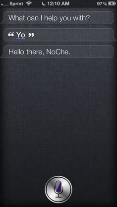 Siri knows slang...