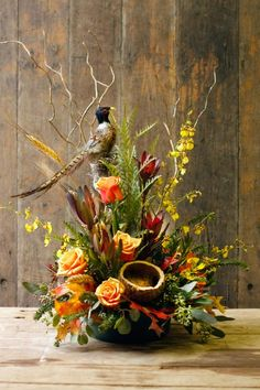 Thanksgiving flower arrangements garden ideas can find Silk flower arrangements and more on our website. Flower Arrangement Designs, Unique Flower Arrangements, Funeral Flower Arrangements, Fall Arrangements, Funeral Flowers, Unique Flowers, Fall Flowers, Beautiful Flowers, Christmas Floral Arrangements