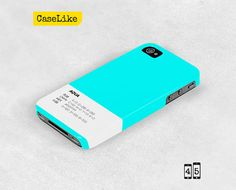 3D iPhone 5 Case Aqua Plain Solid Color iPhone Case by caselike, $22.00