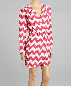 Look at this #zulilyfind! Pink Zigzag Dress by Reborn Collection #zulilyfinds