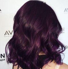 When in doubt, go purple. Classic royal purple Aveda hair color from Avalon Salon Spa stylist Nicole.