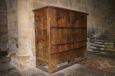 Oak armoire. C12th, Aubazine, France.