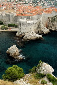 Dubrovnik, Croatia. What a beautiful country, lovely people! My son, mom and I visited in 2010. We went snorkeling in the sea here.