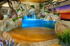 Cool tropical indoor pool with beach-entry - Shehan Pools http://www.poolspaoutdoor.com/blog/entryid/198/8-cozy-and-cool-indoor-swimming-pools.aspx