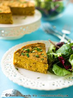 Crustless Tofu-Vegetable Quiche by Bitter-Sweet-, via Flickr