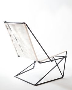 CR45 is a cantilevered chair made from steel rod and sash cord.