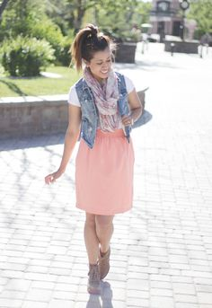 Beautiful spring outfit for Sunday morning church