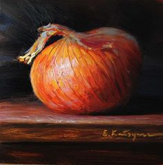 """Onion"" - Original Fine Art for Sale - © Elena Katsyura"