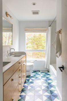 Kohler Faucet, Tile Covers, Custom Vanity, Beach Bungalows, Shelving, Flooring, Cottage, Layout, Architecture