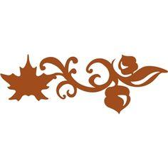 Silhouette Design Store: fall border