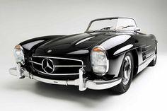 Black Vintage 1960′s Mercedes Convertible