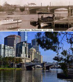 YARRA RIVER - MELBOURNE  1917 - 2015