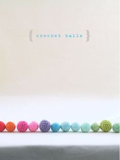 Crochet balls pattern. These cute and colourful balls are open to your interpretation of colour, yarn and size, a fun project at a beginner level with turorials and handy hints to help make life just that little bit easier. Perfect for creating sweet jewelry or just because you love the look of a pile of colourful balls as decoration in jars or bowls for example.