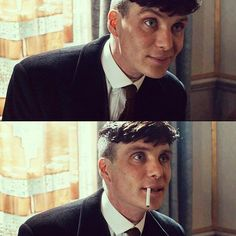 One of the rare times he smiles in Peaky Blinders ❤️️❤️️