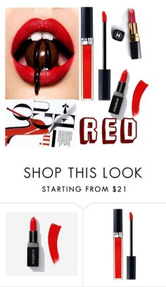 """Lips"" by jokhaiyyah ❤ liked on Polyvore featuring beauty, Chanel and Christian Dior"