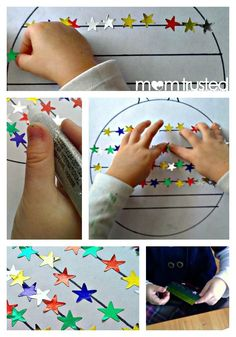 Fine motor skills sticker activity