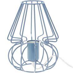 Blue Picolo Wire Table Lamp 23x17cm