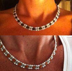 T Bead Jewellery, Wire Jewelry, Beaded Jewelry, Jewelery, Jewelry Bracelets, Bead Crafts, Jewelry Crafts, Viking Knit, Micro Macrame