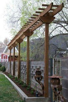 29 DIY Backyard Pergola Trellis Ideas to Enhance The Outdoor Life 29 Pergola-Spalier-Ideen für den G Backyard Privacy, Outdoor Pergola, Backyard Fences, Diy Pergola, Pergola Kits, Backyard Ideas, Backyard Shade, Backyard House, Backyard Plants